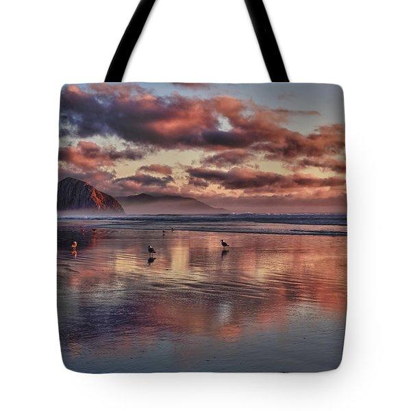 Sunset At Morro Strand Tote Bag