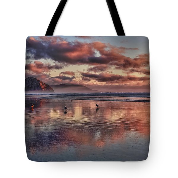 Sunset At Morro Strand Tote Bag