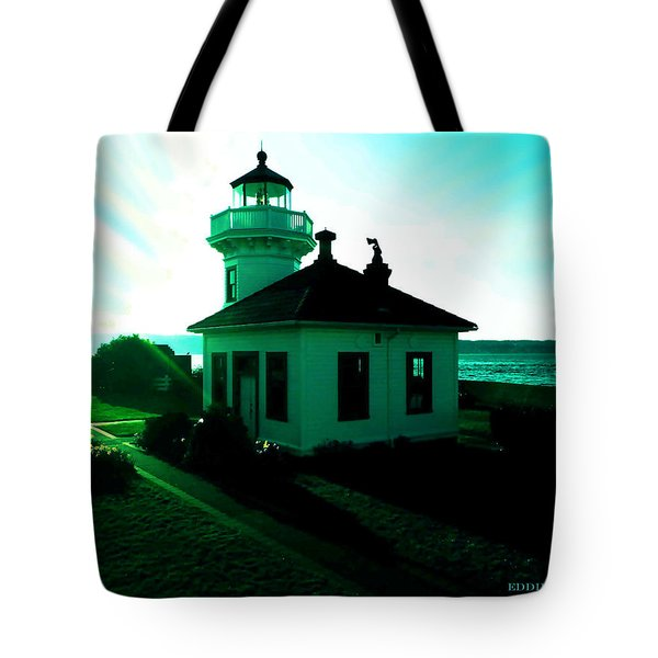Sunset At Mukilteo Lighthouse Park  Tote Bag by Eddie Eastwood