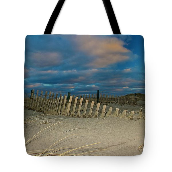 Tote Bag featuring the photograph Sunset At Nauset Beach Cape Cod by Amazing Jules