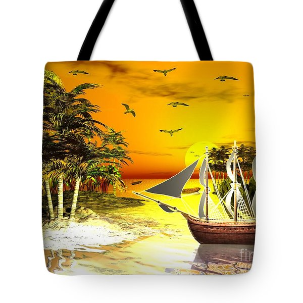 Sunset At Pirates Cove Tote Bag