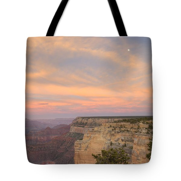 Tote Bag featuring the photograph Sunset At Powell Point by Alan Vance Ley
