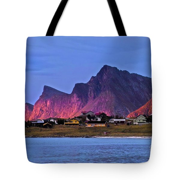 Sunset At Ramberg Tote Bag by Heiko Koehrer-Wagner