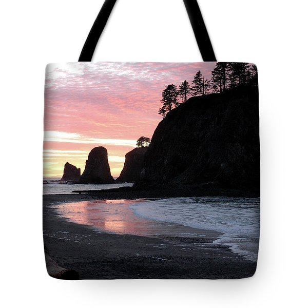 Sunset At Rialto Beach 1 Tote Bag