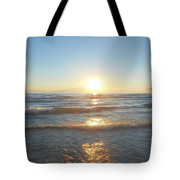 Sunset At Sauble Beach  Tote Bag