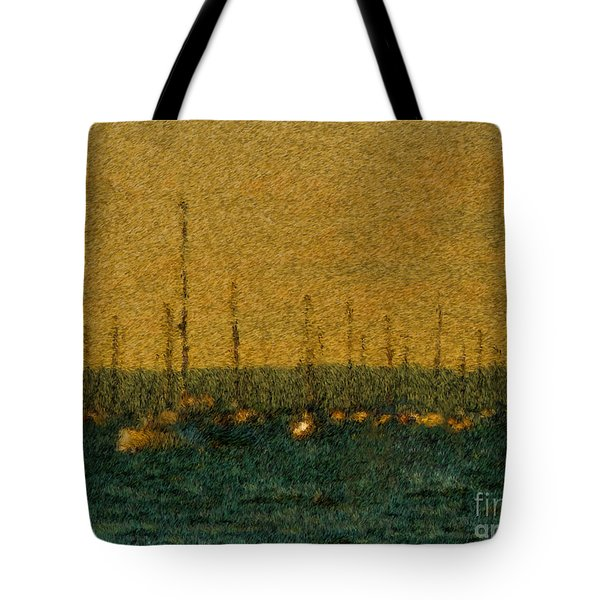Sunset At Sea Cliff Tote Bag by Jeff Breiman