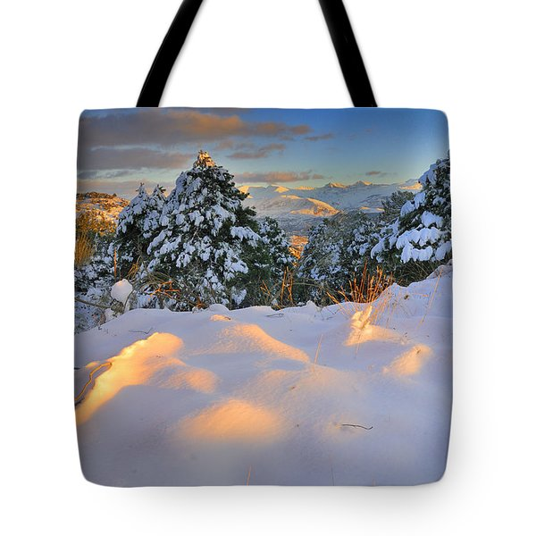 Sunset At Sierra Nevada Tote Bag by Guido Montanes Castillo