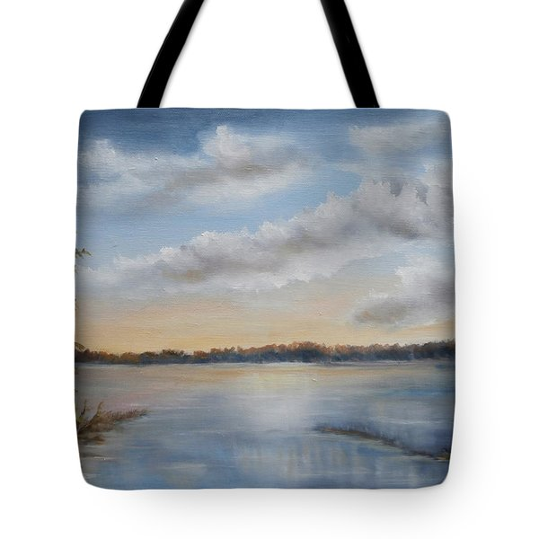 Sunset At Sparta Lake New Jersey Tote Bag