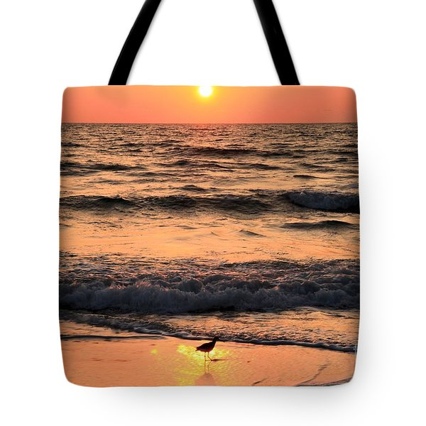 Sunset At St. Joseph Tote Bag by Adam Jewell
