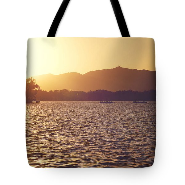 Tote Bag featuring the photograph Sunset At Summer Palace by Yew Kwang