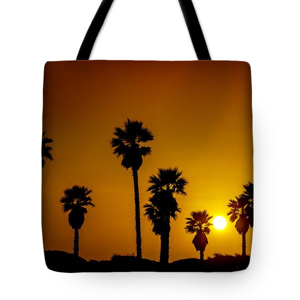 Sunset At The Beach Large Canvas Art, Canvas Print, Large Art, Large Wall Decor, Home Decor Tote Bag