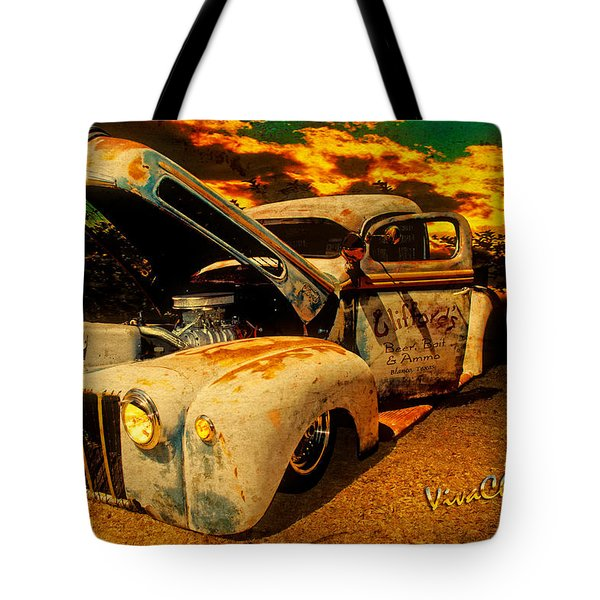 Sunset At The Blanco River Tote Bag by Chas Sinklier