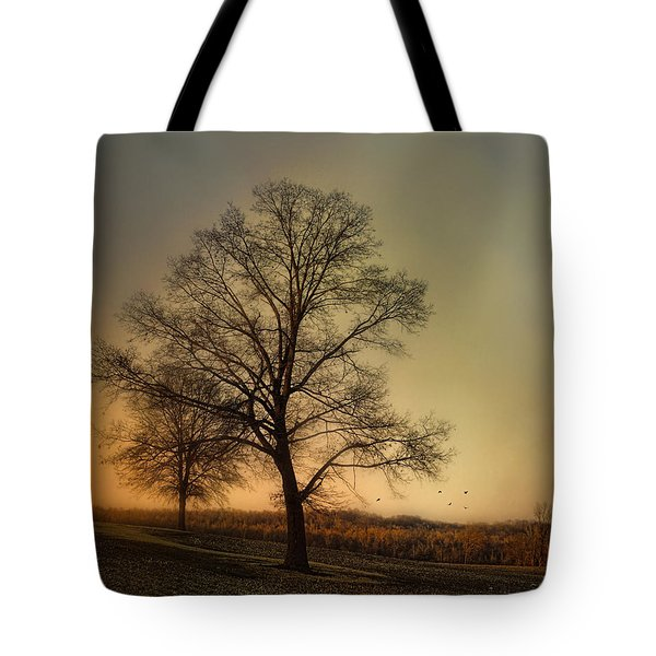 Sunset At The Cotton Field Tote Bag