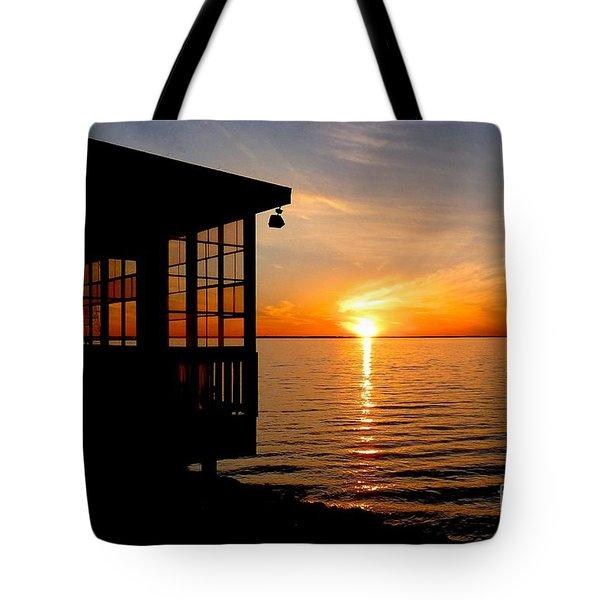 Sunset At The Crab Shack Tote Bag