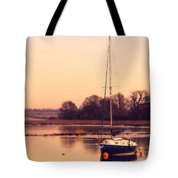 Sunset At The Creek Tote Bag by Pixel Chimp