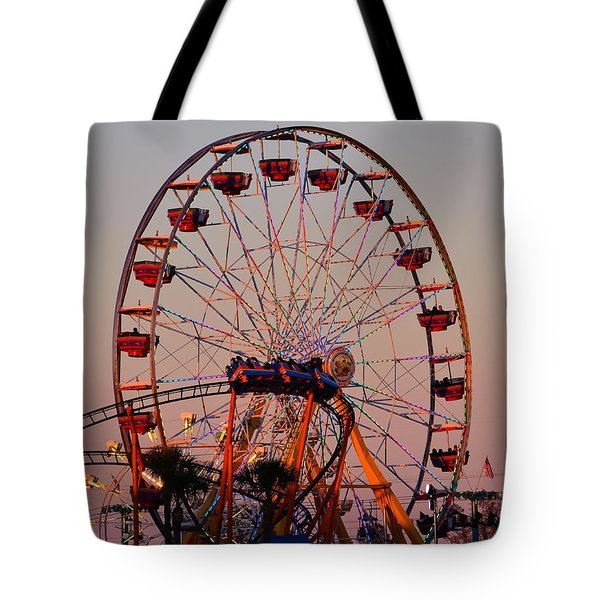 Sunset At The Fair Tote Bag by David Lee Thompson