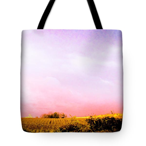 Tote Bag featuring the photograph Sunset At The Farm by Sara Frank