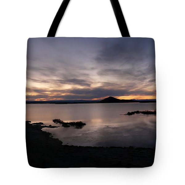 Sunset Over Lake Myvatn In Iceland Tote Bag