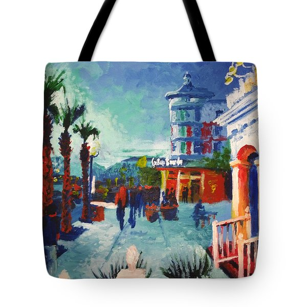 Tote Bag featuring the painting Sunset At The Market Common by Jennifer Hotai