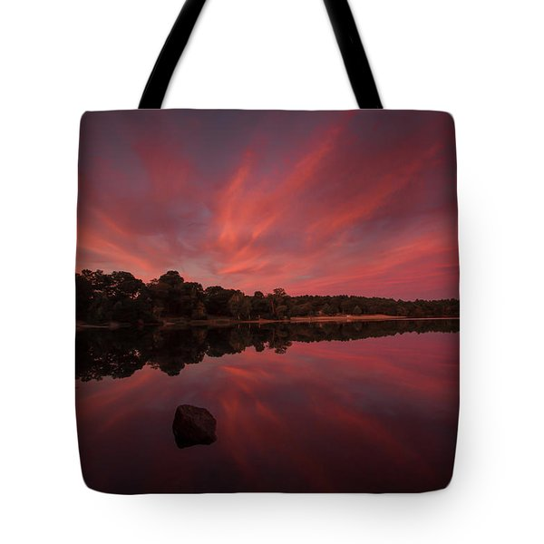 Sunset At The Pond Tote Bag