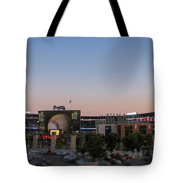 Sunset At Turner Field Tote Bag