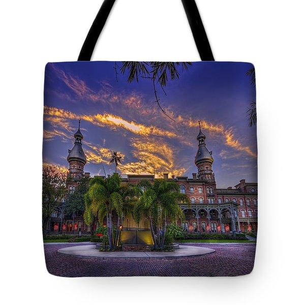 Sunset At U.t. Tote Bag
