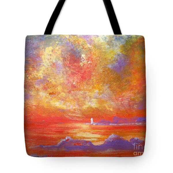 Sunset At Wingershaek Beach Tote Bag