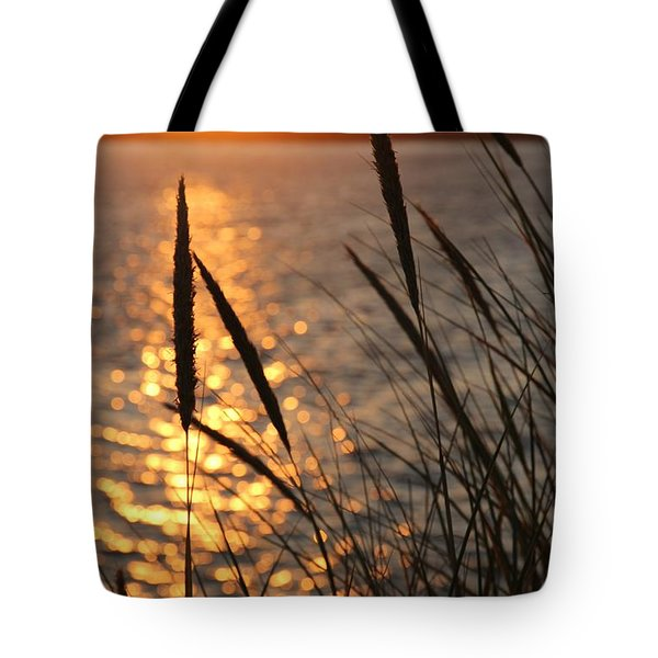 Tote Bag featuring the photograph Sunset Beach by Athena Mckinzie
