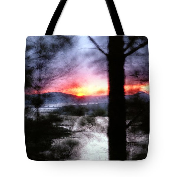Sunset Atop Windy Emerald Park Tote Bag by Jason Politte