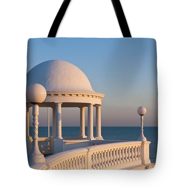 Sunset Balcony Tote Bag