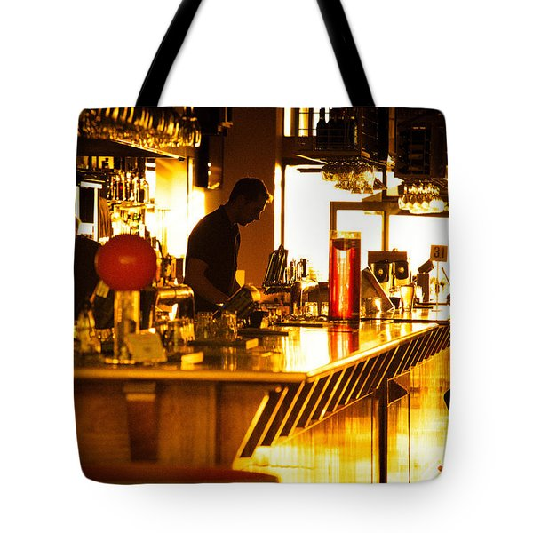 Tote Bag featuring the photograph Sunset Bar by Ray Warren