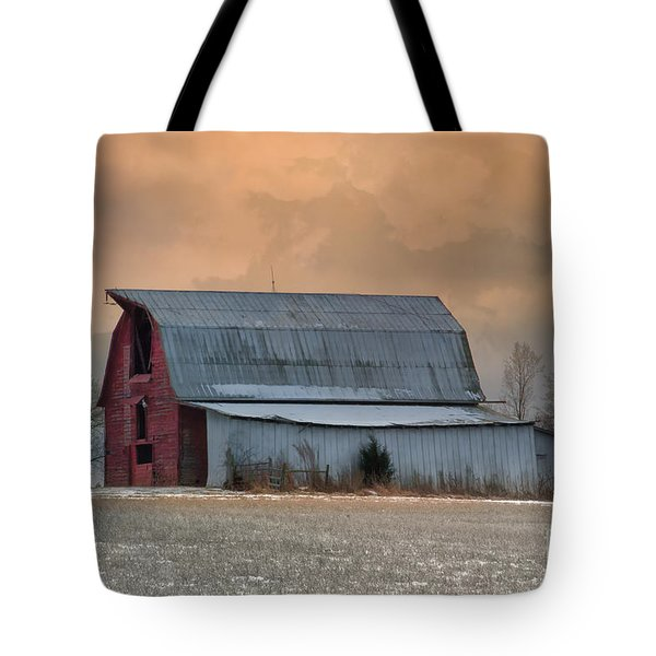 Sunset Barn Tote Bag