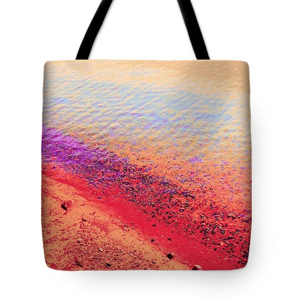 Sunset Beach Tote Bag by Ann Johndro-Collins