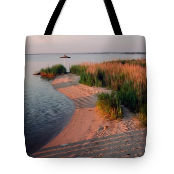Tote Bag featuring the digital art Sunset Beach by Kelvin Booker