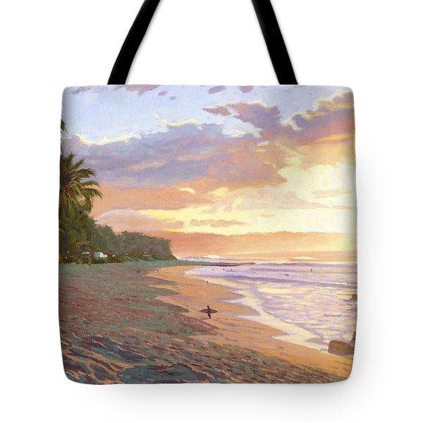 Sunset Beach - Oahu Tote Bag by Steve Simon