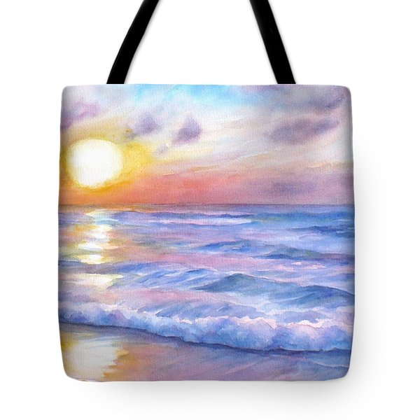Sunset Beach Hawaii Seascape  Tote Bag
