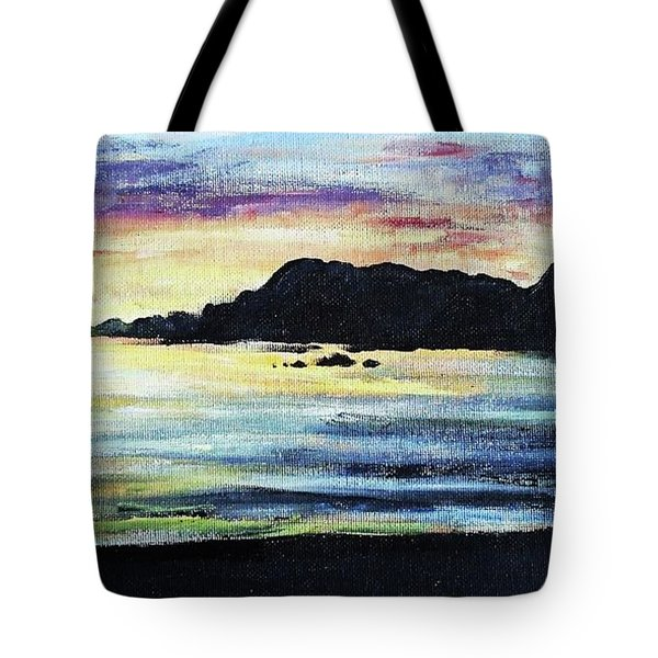Tote Bag featuring the painting Sunset Beach by Shana Rowe Jackson