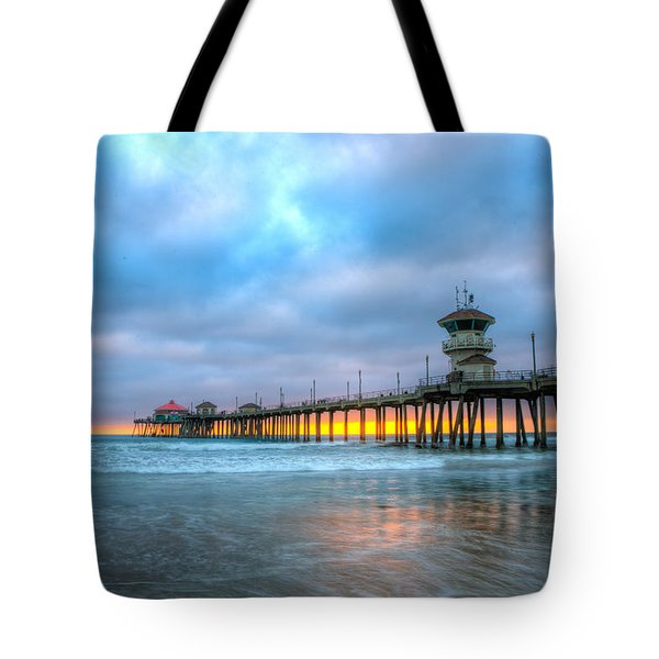 Sunset Beneath The Pier Tote Bag