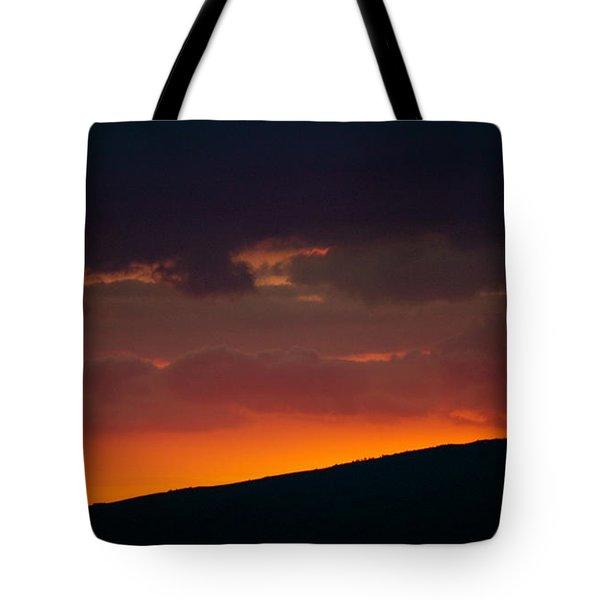 Sunset Beyond The Waianae Mountain Range Tote Bag