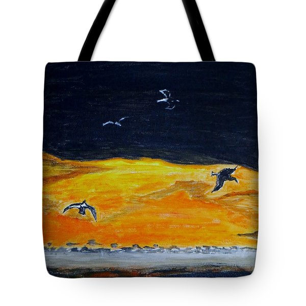 Sunset Birds Tote Bag by Sonali Gangane