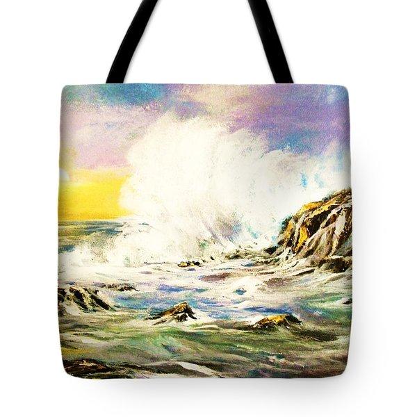 Sunset Breakers Tote Bag