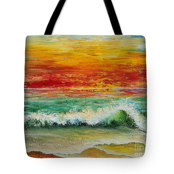 Sunset Breeze Tote Bag by Teresa Wegrzyn