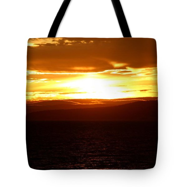 Sunset By The Fjord Tote Bag