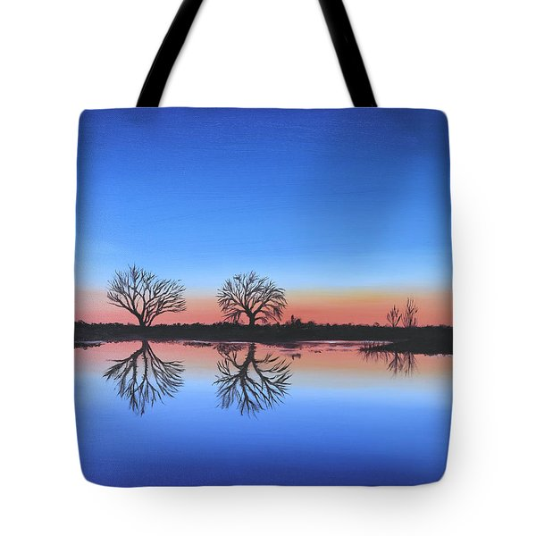 Tote Bag featuring the painting Sunset By The River Thames by Elizabeth Lock
