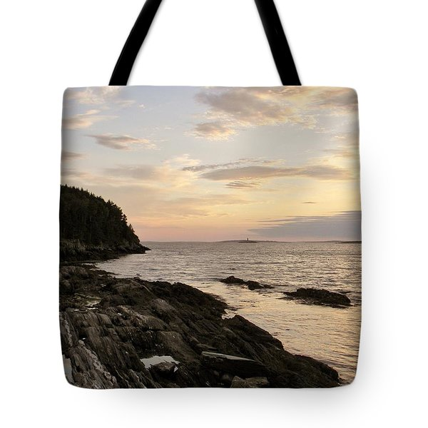 Sunset By The Sea Tote Bag by Jean Goodwin Brooks