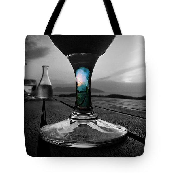 Sunset Cafe Tote Bag by Micki Findlay