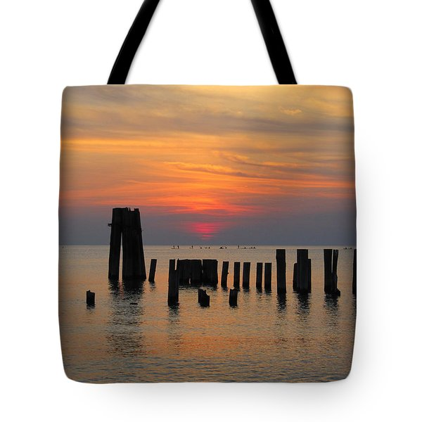 Tote Bag featuring the photograph Sunset Cape Charles by Richard Reeve