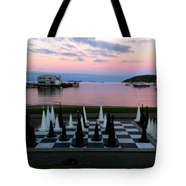 Sunset Chess At Half Moon Bay Tote Bag
