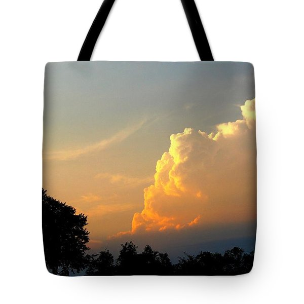 Sunset Clouds Building Tote Bag