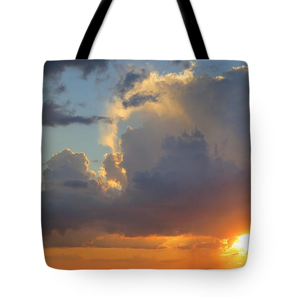 Sunset Shower Sarasota Tote Bag